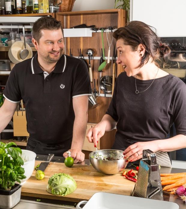 Michael & Kristin i studion.